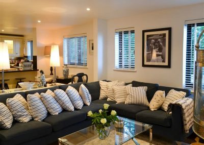 The living area at Peakaboo, Sidmouth