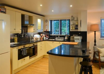 The kitchen at Peakaboo, Sidmouth