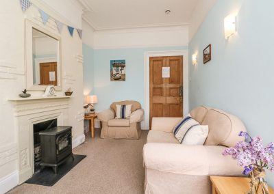 The living area at Pebbles, Lynton