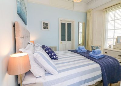The bedroom at Pebbles, Lynton