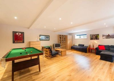 The games room at Penarvon House, Helford