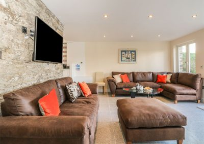 The living area at Penmarlam Quay Cottage, Lanteglos