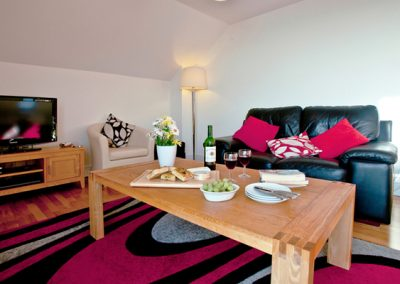 The living area @ The Penthouse, Porthcurno, Penzance