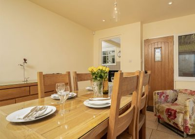 The dining area at Pentire, Marldon