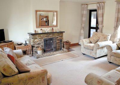 The living area at Penty Rosen, Rescorla Farm Cottages, Rescorla