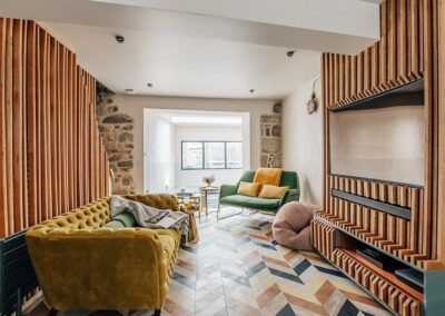 The living area at Phoenix, St Ives