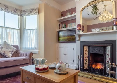 The living area at Place View, Fowey