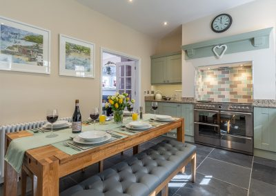 The dining area at Place View, Fowey