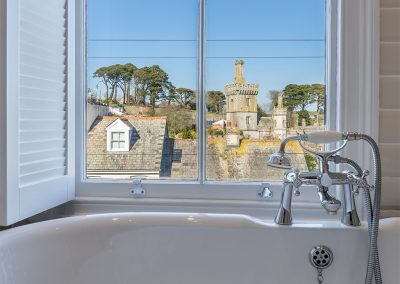 The bathroom at Place View, Fowey