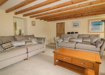 The living area at Polstein, Threemilestone