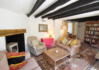 The living area at Poocks Cottage, Oare