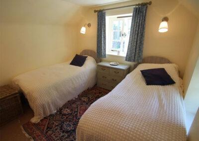 Bedroom #2 at Poocks Cottage, Oare