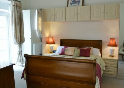 The bedroom at Porters Lodge, Axminster