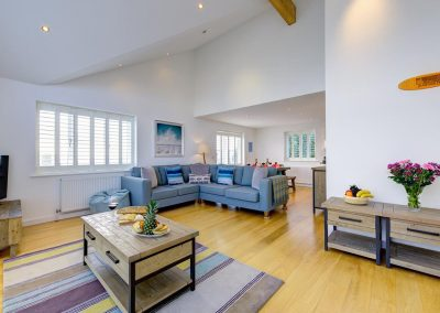 The living area at Porth House, Mawgan Porth