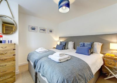Bedroom #4 en-suite at Porth House, Mawgan Porth