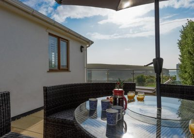 The wraparound balcony at Porth House, Mawgan Porth
