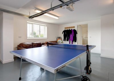 The games room at Porth House, Mawgan Porth
