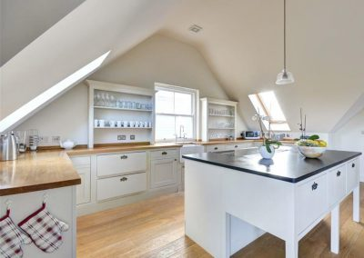 The kitchen at Porthtowan Retreat, Eastcliff