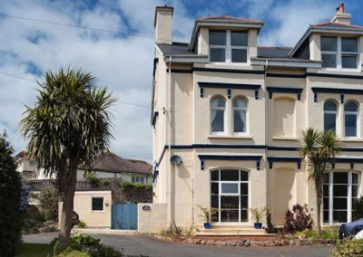 Porto Seguro, Brixham occupies the top floor of the property