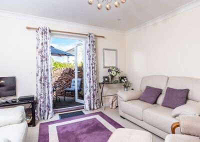 The living area at Redsands, Paignton