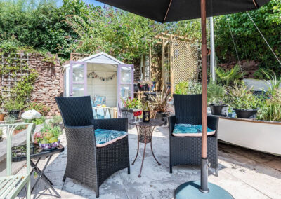 The gorgeous nautical themed patio at Redsands, Paignton