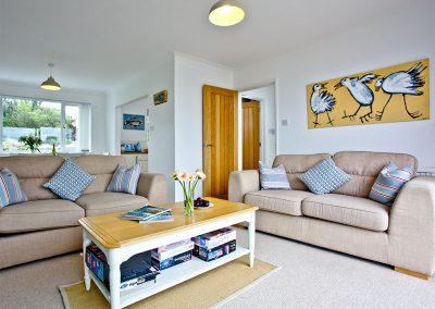 The living area at Rest A Shore, Brixham