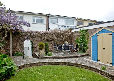 The second rear patio at Rest A Shore, Brixham