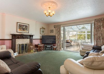 The living area at Ridge House, Higher Gabwell