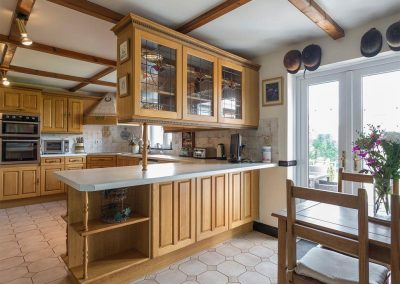 The kitchen at Ridge House, Higher Gabwell