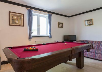 The games room at Ridge House, Higher Gabwell
