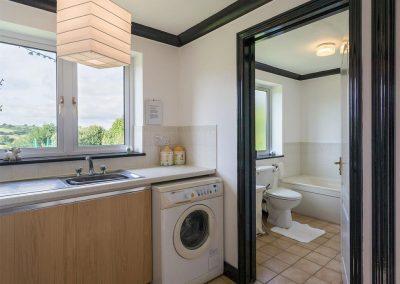 The utility room & ground floor bathroom at Ridge House, Higher Gabwell