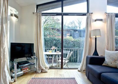 The living area at Riverside, Gara Mill, Slapton