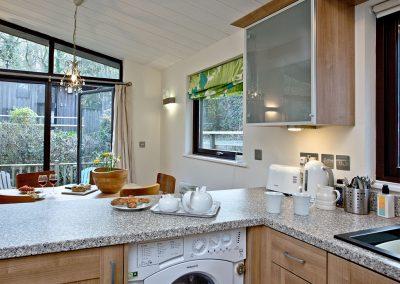 The kitchen at Riverside, Gara Mill, Slapton