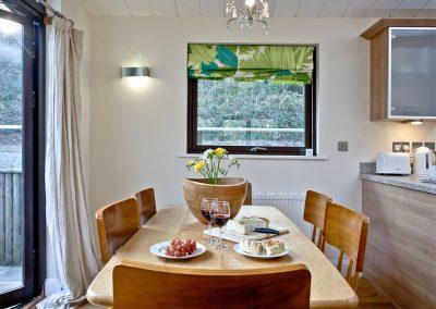 The dining area at Riverside, Gara Mill, Slapton