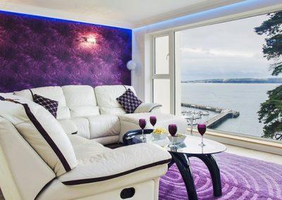 The living area @ Riviera Mews, Torquay