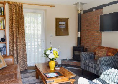 The living area at Robin Cottage, Brixham