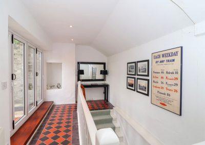 The upstairs landing at Rock House, Trebarwith Strand