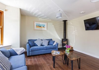 The living area at Rocky Close, Ayr