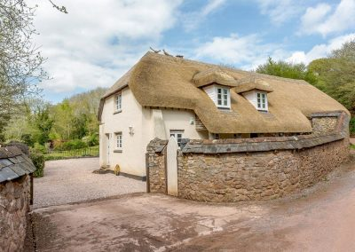 Outside Rocombe Thatch, Higher Gabwell