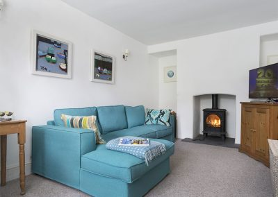 The family room at Rose Cottage, Ashprington