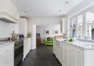 The kitchen at Rose Cottage, Ashprington