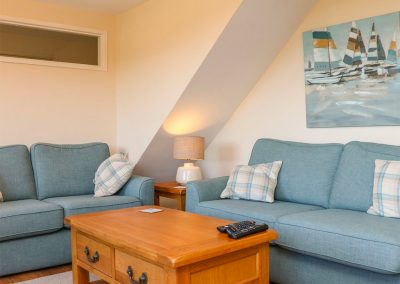 The living area at Rose Cottage, Goodleigh