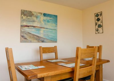 The dining area at Rose Cottage, Goodleigh