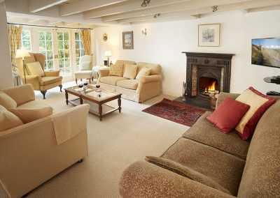 The living area at Rosemundy Villa, St Agnes