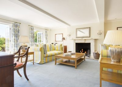 The drawing room at Sandridge Barton, Sandridge