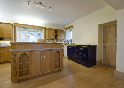 The kitchen at Sandridge Barton, Sandridge