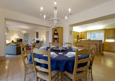 The dining area at Sandridge Barton, Sandridge