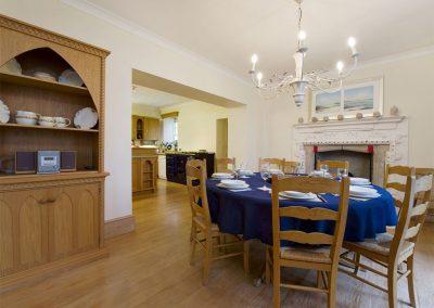The dining area at Sandridge Barton, Sandridge