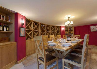 The dining room at Sandridge Barton, Sandridge