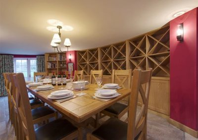 The dining room at Sandridge Barton, Sandridge